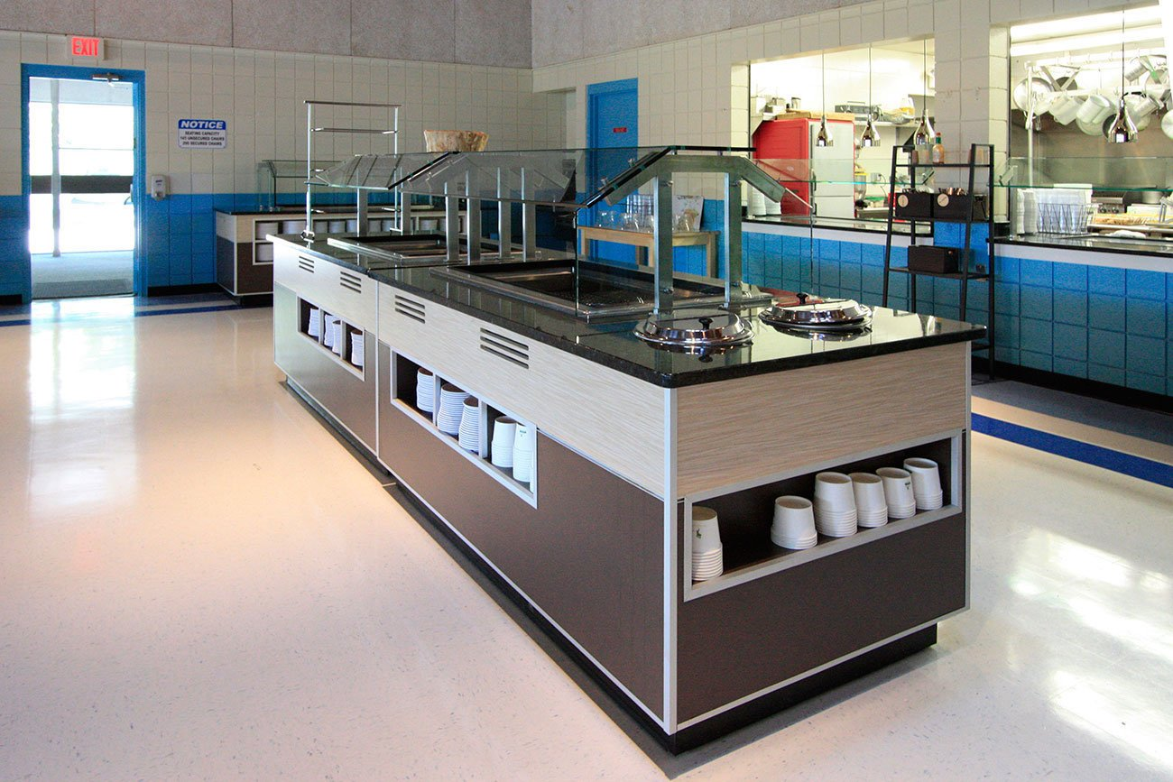 1 School cafeteria - commercial remodeling construction project by in-house design build firm in RI