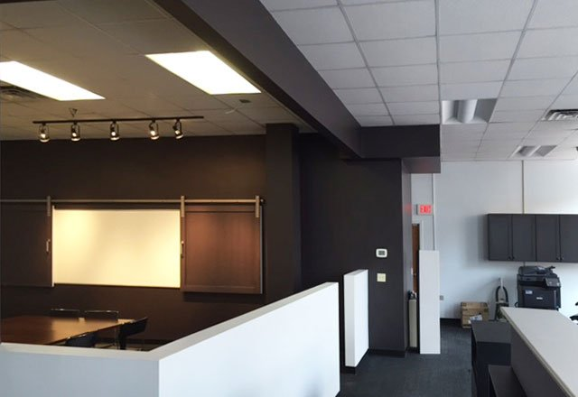 1 Hospitality suite - commercial remodeling construction project by in-house design build firm in RI