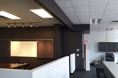 Hospitality suite - commercial remodeling construction project by in-house design build firm in RI