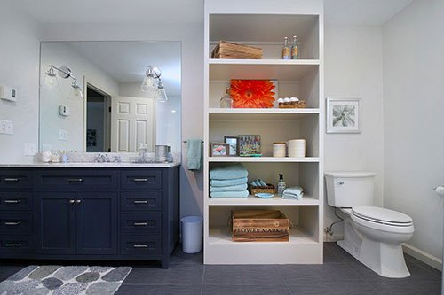 bathroom renovation by in-house design home construction build firm in RI