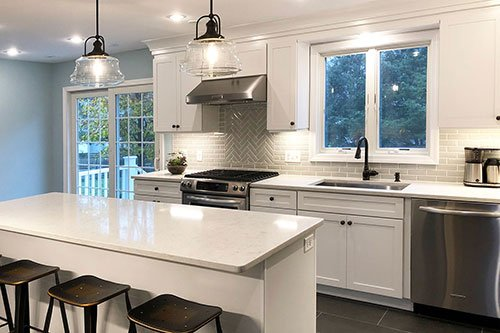 Home kitchen renovation, in-house design build firm in RI