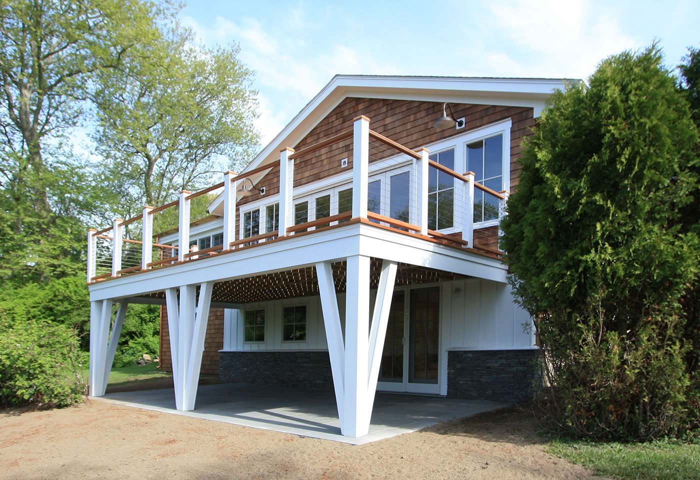 1 Deck build out by in house design - construction build firm in RI
