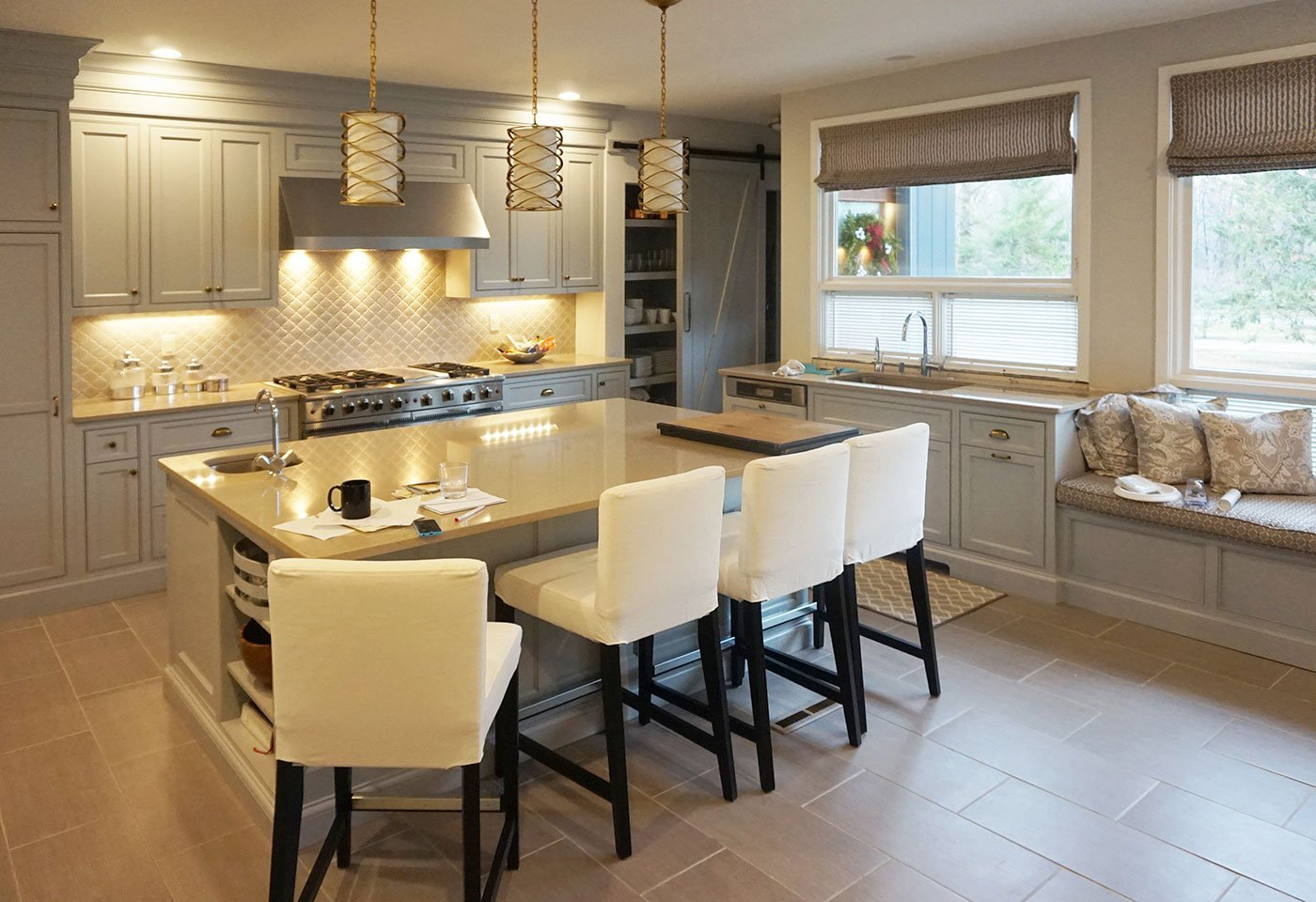 Kitchen - basement remodel by in house design - construction build firm in RI