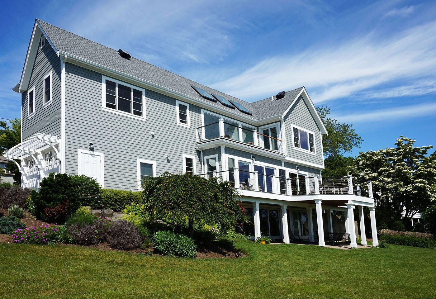 1 Exterior home renovation by in house design - construction build firm in RI