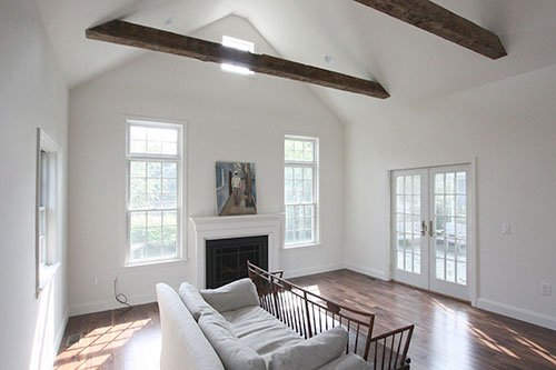 Family room addition by home renovation, in-house design build firm in RI