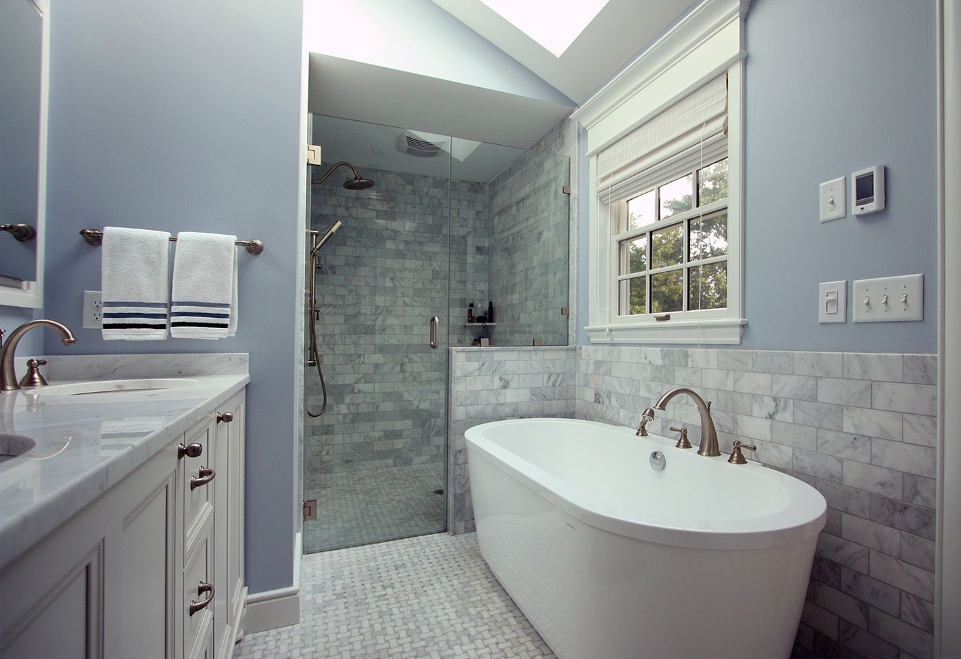 Bathroom remodel renovation construction project by in house design build firm in RI