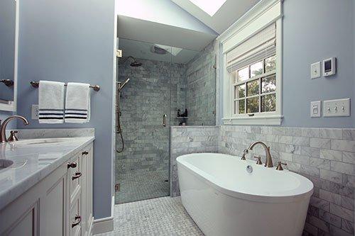 Summer cottage residential bathroom design