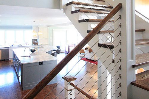 Interior renovation construction by project engineer in RI